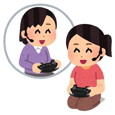 ゲームで遊ぶ女の子