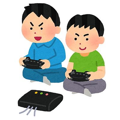 ゲームで遊ぶ青年