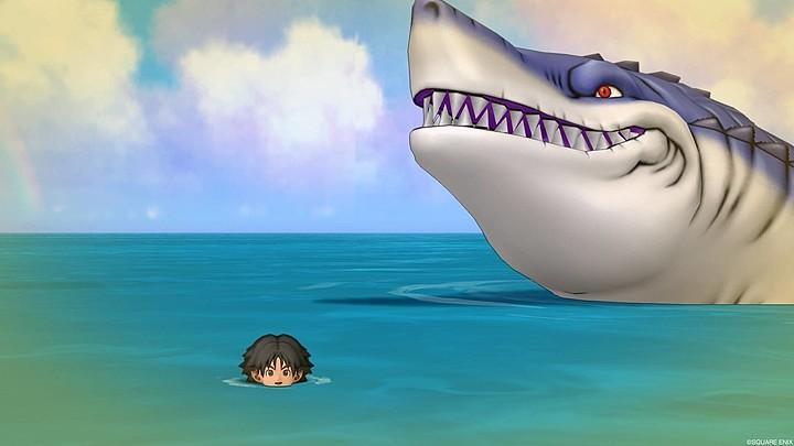 サメ顔出し