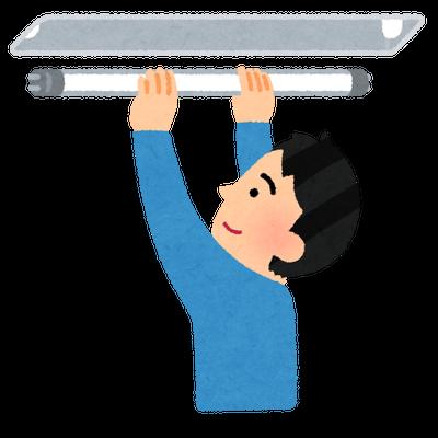 蛍光灯の電気工事